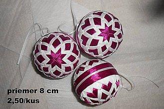 Dekorácie - Vianočná guľa, 1 kus - 5878253_