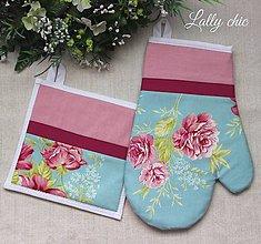 Úžitkový textil - set rukavica+chňapka Loli ruža - 5880682_