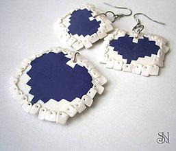 Sady šperkov - Love pixels - náušnice a prívesok - 5881037_