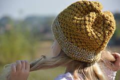 Detské čiapky - medová hořčice - 5879433_