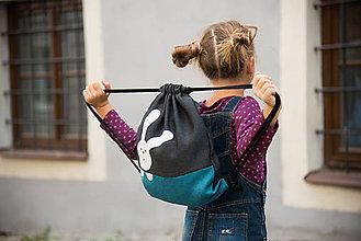 Detské tašky - Batoh zajko BLUE - 5879634_