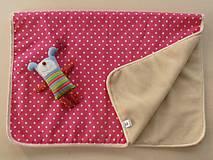 Textil - MERINO blanket De Luxe Star pink - 5882930_