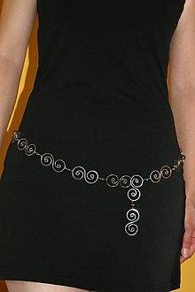 Iné šperky - Retiazka okolo pása - hematit - tepané - hypoalergénne - 5882075_