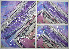 Textil - Panel dizajnový Crystal Purple (15x20cm) - 5882722_