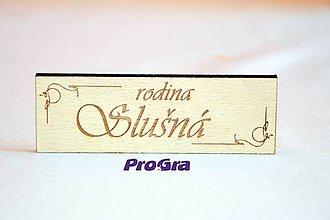 Tabuľky - drevená menovka - ornament - 5879273_