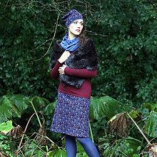Sukne - BIRDA - pletená sukně nad kolena - áčková - 5880831_