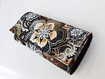Peňaženky - Fortissimo hnědá - velká na spoustu karet - 5882452_