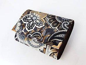 Peňaženky - Fortissimo hnědá - peněženka i na karty, 13 cm - 5882596_