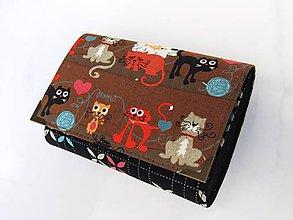 Peňaženky - Pojďte kočky, budeme si hrát -  peněženka i na karty, 13 cm - 5882737_