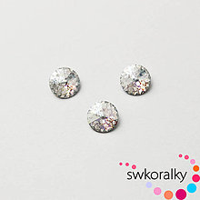Korálky - RIVOLI 8 SWAROVSKI®ELEMENTS crystal white patina - 5879843_