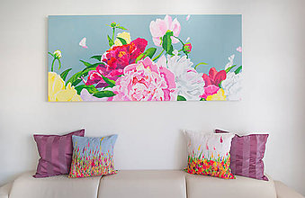 Obrazy - Peonies flowers - 5883728_