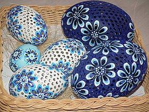Dekorácie - pštrosia kraslica emu modrá - 5883790_
