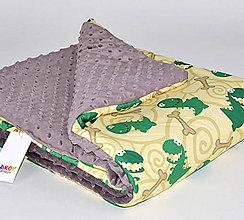 Textil - Dizajnová prikrývka Takoy 75x100 - mat 310/22 do postieľky, kočíka - 5884138_