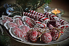 Dekorácie - Sada vianočná bordová - 5884823_