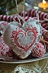 Dekorácie - Sada vianočná bordová - 5884824_
