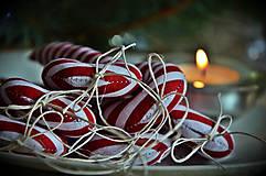 Dekorácie - Sada vianočná bordová - 5884825_