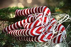 Dekorácie - Sada vianočná bordová - 5884831_