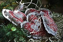 Dekorácie - Sada vianočná bordová - 5884832_