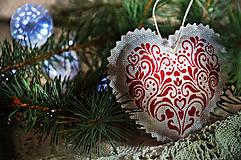 Dekorácie - Sada vianočná bordová - 5884833_