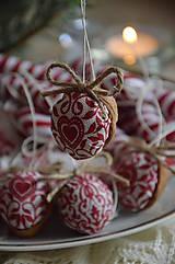 Dekorácie - Sada vianočná bordová - 5884835_