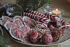 Dekorácie - Sada vianočná bordová - 5884837_
