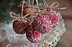 Dekorácie - Sada vianočná bordová - 5884855_