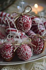 Dekorácie - Sada vianočná bordová - 5884856_
