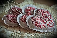 Dekorácie - Sada vianočná bordová - 5884857_