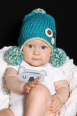 Detské čiapky - s brmbolcami - 5886992_
