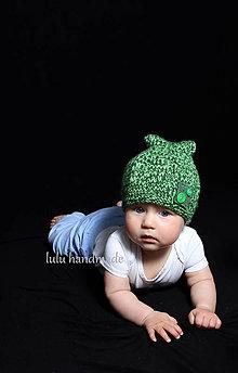 Detské čiapky - zelená - 5886999_