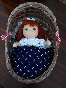 Košíky - Postieľka pre bábiku s búdičkou (Malá postieľka) - 5886900_