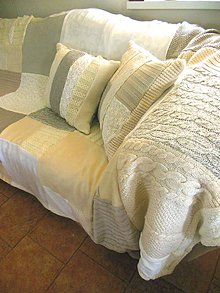 Úžitkový textil - Prikrývka na sedačku s vankúšmi - 5885129_