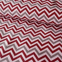 Textil - Chevron (red, gray, white), vzor 21 - 5887504_