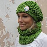 Čiapky - zelený s bodkou - 5887413_