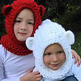 Detské čiapky - ľadový medveďko - 5887677_