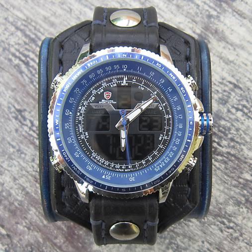 23f948668 Modročierne kožené hodinky / leon - SAShE.sk - Handmade Náramky