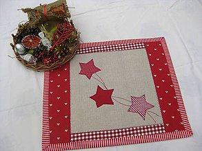 Úžitkový textil - vianočné, hviezdne 2... - 5887490_