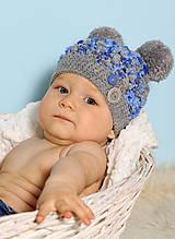 Detské čiapky - s brmbolcami - 5887012_
