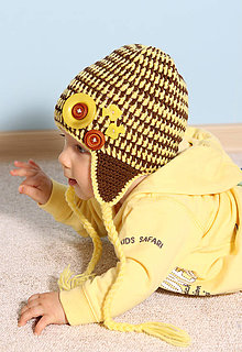Detské čiapky - s gombíkmi - 5887004_