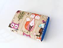 Peňaženky - Lištička v lese - peněženka i na karty 13 cm - 5890238_