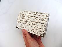 Peňaženky - Já píši Vám - peněženka i na karty 13 cm - 5890317_