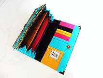 Peňaženky - Růže od Tiffaniho - 17 cm, na spoustu karet - 5890564_