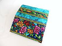 Peňaženky - Růže od Tiffaniho - 17 cm, na spoustu karet - 5890568_