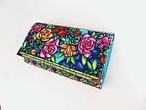 Peňaženky - Růže od Tiffaniho - 17 cm, na spoustu karet - 5890569_