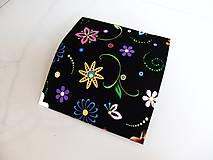 Peňaženky - Veselé květinky - 17 cm, na spoustu karet - 5890621_