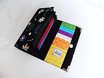 Peňaženky - Veselé květinky - 17 cm, na spoustu karet - 5890623_
