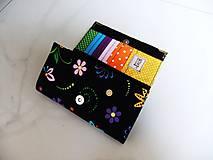 Peňaženky - Veselé květinky - 17 cm, na spoustu karet - 5890625_