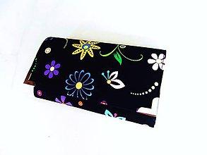Peňaženky - Veselé květinky - 17 cm, na spoustu karet - 5890624_