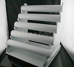 Iný materiál - 5- radový biely koženkový stojan na náramky - 5887172_