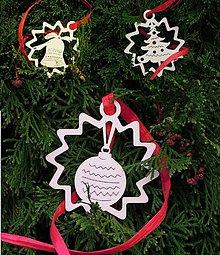 Dekorácie - Vianočné ozdoby - Zvonček, guľa, stromček (X10) - 5890401_